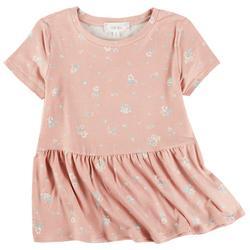 Juniors Floral Babydoll Top