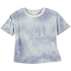 Pink Rose Juniors Short Sleeve Tye Dye Short Sleeve Top