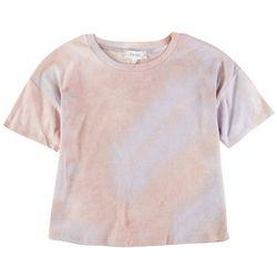 Pink Rose Juniors Short Sleeve Tye Dye Top