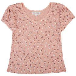 Pink Rose Juniors Printed Short Sleeve Top