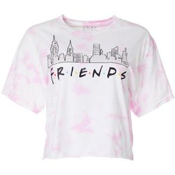 Modern Lux Juniors Friends Skyline Logo Cropped T-Shirt