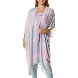Say What? Juniors Tie Dye Print Kimono