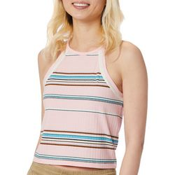 Unionbay Juniors Anya Ribbed Striped Cropped Tank Top