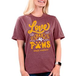 Simply Southern Juniors Love Has 4 Paws T-Shirt