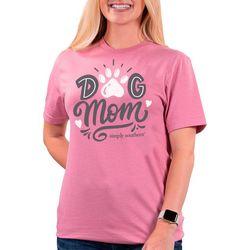 Womens Dog Mom Solid T-Shirt