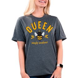 Simply Southern Womens Queen Bee Solid T-Shirt