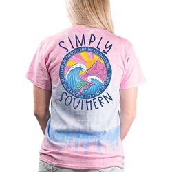 Simply Southern Juniors Tie Dye Waves Graphic T-Shirt