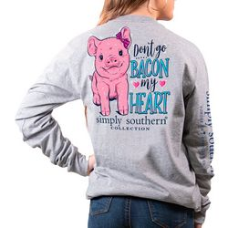 Juniors Dont Go Bacon My Heart T-Shirt