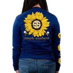 Simply Southern Juniors Sunflower Long Sleeve T-Shirt