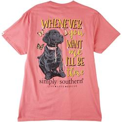 Juniors Puppy Print T-Shirt