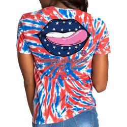 Juniors Americana Tie-Dye T-Shirt