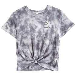 Juniors No Bad Vibes Tie-Dye T-Shirt