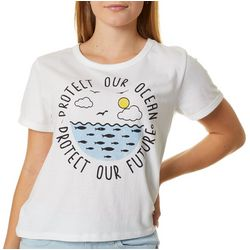 Recycled Threads Juniors Protect Our Ocean-Future T-Shirt