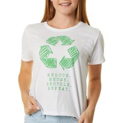 Juniors Reduce Reuse Recycle T-Shirt
