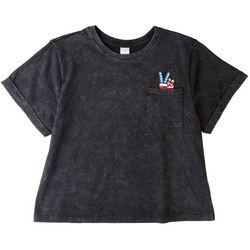 Messy Buns, Lazy Days Juniors Peace T-Shirt