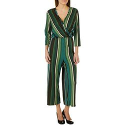 Thyme & Honey Womens Colorful Striped Ankle Jumpsuit