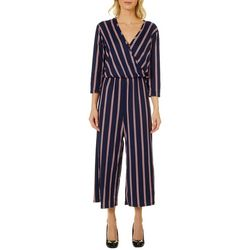 Thyme & Honey Womens Thin Striped Ankle Jumpsuit