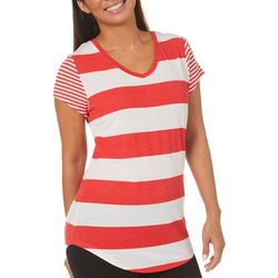 Thyme & Honey Womens Mixed Stripe Top