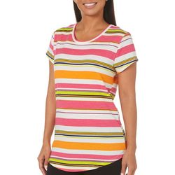 Thyme & Honey Womens Striped Short Sleeve Top