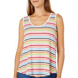 Thyme & Honey Womens Multi Striped Sleeveless Top