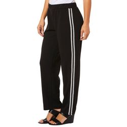 Thyme & Honey Womens Athletic Striped Soft Pants