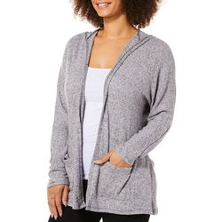 Thyme & Honey Womens Heathered Hooded Cardigan