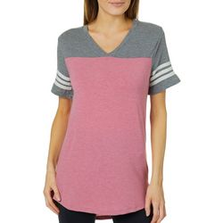 Thyme & Honey Womens Athletic Striped T-Shirt