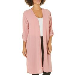 Thyme & Honey Womens Roll Tab Longline Cardigan