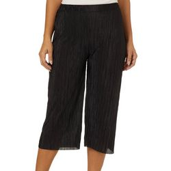 Coco's Clozet Womens Solid Pleated Gaucho Pants