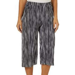 Coco's Clozet Womens Striped Pleated Gaucho Pants