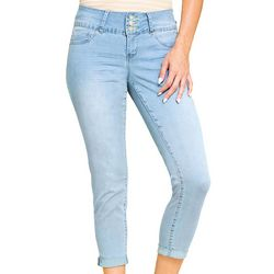 Royalty by YMI Womens Skinny Roll Cuff Denim Capris