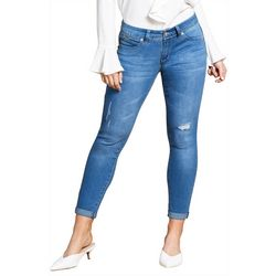 Royalty by YMI Womens WannaBettaButt Roll Cuff Denim Jeans