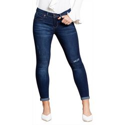Royalty by YMI Womens WannaBettaButt Roll Cuff Denim Jeans