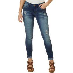 Royalty by YMI Womens WannaBettaButt Roll Cuff Ankle Jeans