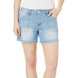 Royalty by YMI Womens Side Split Denim Shorts
