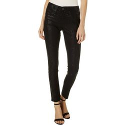 Royalty by YMI Subtle Snakeskin Print Fit Skinny Pants