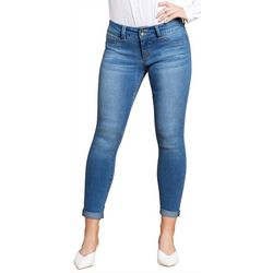 Royalty by YMI Womens Roll Cuff Ankle Jeans