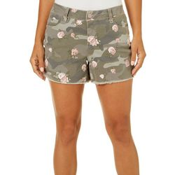 Royalty by YMI Womens Floral Camo Shorts