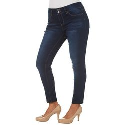 Royalty by YMI Womens Double Button Roll Cuff Jeans
