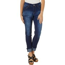 Royalty by YMI Womens WannaBettaButt Mega Cuff Ankle Jeans