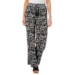 Fever Womens Paisley Print Pull On Pants