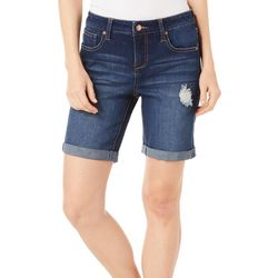 Truth & Theory Womens Denim Bermuda Shorts