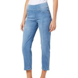 Truth & Theory Womens Super Soft Stretch Pull On Ankle Jeans