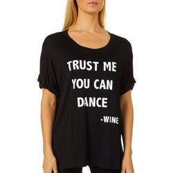 Mic & Jax Womens Trust Me You Can Dance - Wine Top