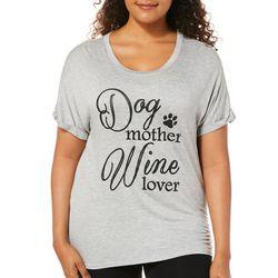 Mic & Jax Womens Dog Mother Wine Lover