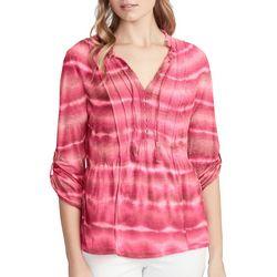 Vintage America Womens Zola Tie Dye Roll Tab Top