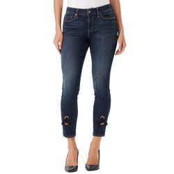 Vintage America Womens Wonderland Grommet Hem Skinny Jeans