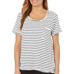 Workshop Womens Striped Pocket T-Shirt