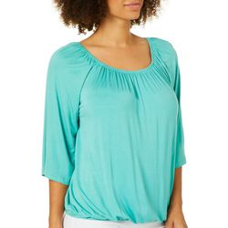 Harlow and Rose Womens Bell Sleeve Off The Shoulder Top