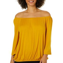 Harlow and Rose Womens Off The Shoulder Bell Sleeve Top